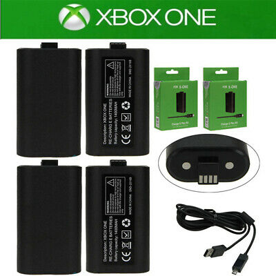 For Xbox One Controller Play Charging Charger Cable 4x Rechargeable Battery Pack