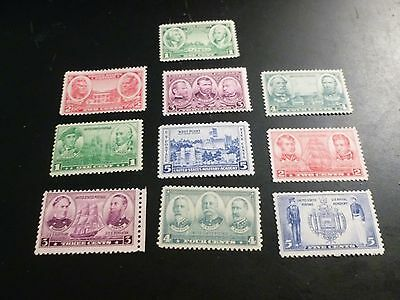 Mint, Never HingedUnited States Scott 785 - 794, the Army & Navy Set Mint