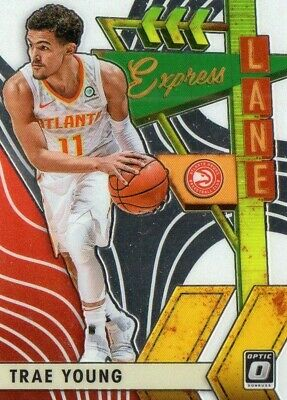 2019/20 Panini Optic Basketball Trae Young Express Lane Insert Card #17