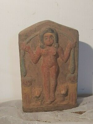Rare Antique Ancient Egyptian Magic Stela Protection Demon snack lion1580-1470BC