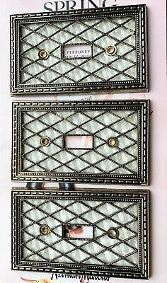 3 Vintage Mid Century Modern American Tack & Hdwe 1976 Switch 3 Covers