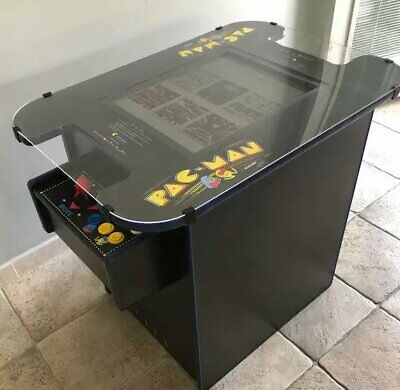 "Retro Cocktail Arcade Machine With Large 21"" Monitor and 412 Classic Games GLASS"