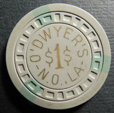 Vintage O'Dwyer's $1 Illegal Casino Gambling Chip New Orleans Louisiana