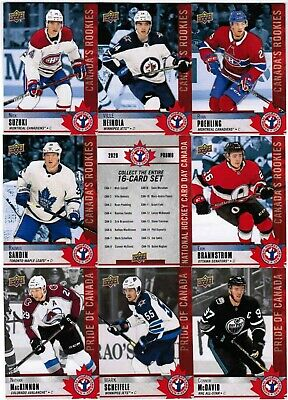 2020 Ud National Hockey Card Day Canada Complete Set (17) Hughes Suzuki Sandin
