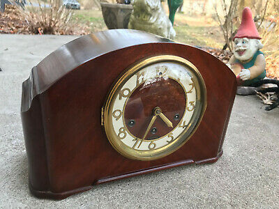Seth Thomas Simsbury 1W Mantle Clock Westminster Chime Quarterly Strike FB12