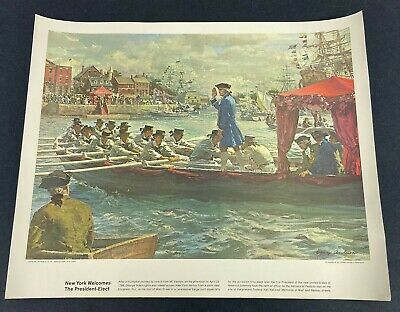 "Vintage Humble Oil & Refinery Company ""New York Welcomes President-Elect"" Print"