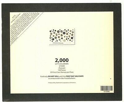 Usps 2020 Let's Celebrate Sheet Stamp Deck Top Card Mint Condition