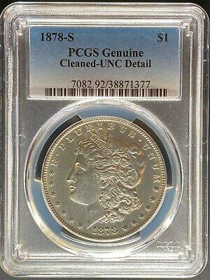 1878-S Morgan Dollar - PCGS Genuine [Cleaned - UNC Detail]