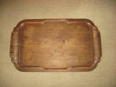 Antique Wood Serving Tray 16 x 26 Inches