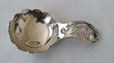 Arts & Crafts Silver Tea Caddy Spoon Hallmarked Sheffield 1960 Oliver & Bower