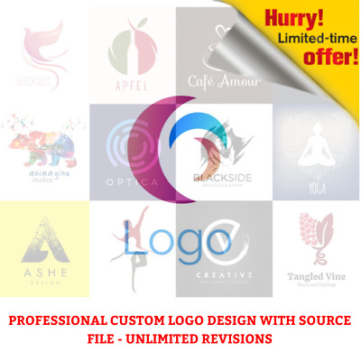 Professional Custom LOGO design unlimited revision and free source file