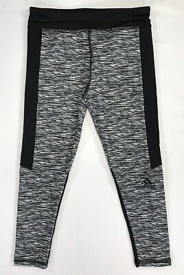 Adidas Girls Athletic Climalite Black Grey size 5 Leggings AK4494 New