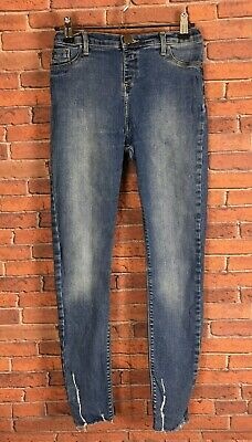 Girls River Island Molly Blue Distressed Skinny Jeans Age 12