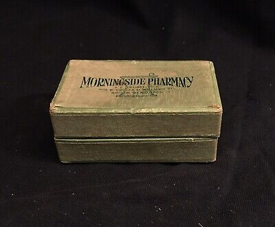 Vintage Prescrition Cardboard Pill Box 1941 - Morningside Pharmacy South Bend In
