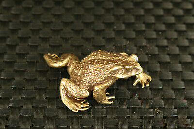 old chinese bronze hand casting Jin Chan statue frog collectable ornament