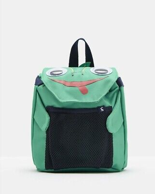 Joules Boys Buddie Character Bag in GREEN CHAMELEON in One Size