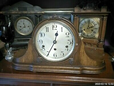Vintage German 'Kienzle' 8-Day Mantle Clock with westminster Chimes