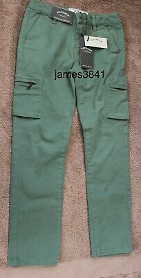 Boys Sage Green Adjustable Waist Chino Chinos Trousers 8 yrs by Fat Face NEW