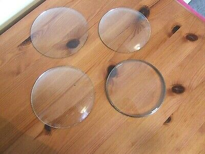4 Vintage Replacement Clock Glasses.