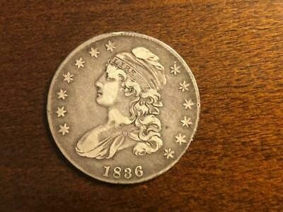 1836 Capped Bust Half Dollar Lettered Edge (Circulated)
