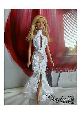 Barbie doll White lace mermaid dresses (Made In Perth)