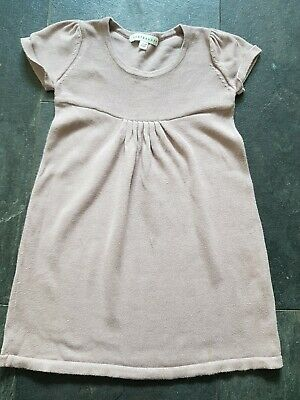 Fab VERTBAUDET SHORT SLEEVED KNITTED COTTON DRESS AGE 4 YRS VGC