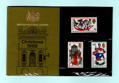 British Pictorial Stamps Christmas 1968 Presentation Pack - Mint, Flat!
