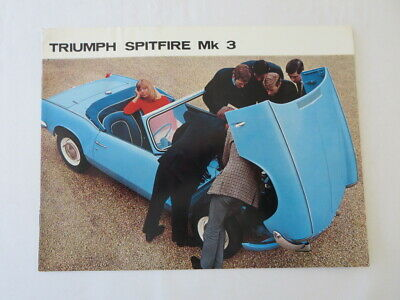 1960s Triumph Spitfire Mark 3 Sales Brochure Advertising Catalog - FRENCH TEXT