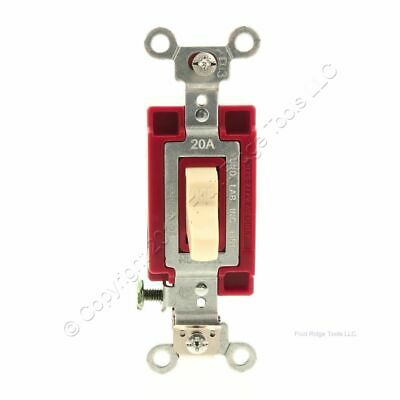 Hubbell Ivory INDUSTRIAL Grade AC Single Pole Toggle Wall Light Switch 20A 1221I