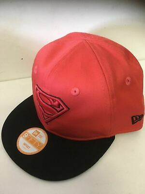 NEW ERA Official 9FIFTY Snapback Baseball Cap * SUPERMAN * Red & Black * INFANT