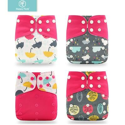Happyflute Reusable and Washable Eco-Friendly Cloth Nappy Baby Diapers