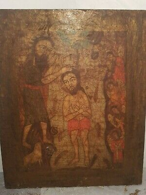 Rare Antique wooden stela Jesus Egyptian Christian jesus sinai 20 AD
