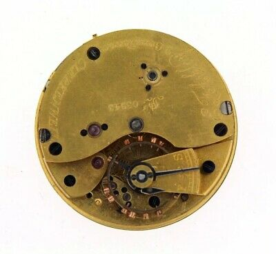 English 3/4 Plate Lever Pocket Watch Movement