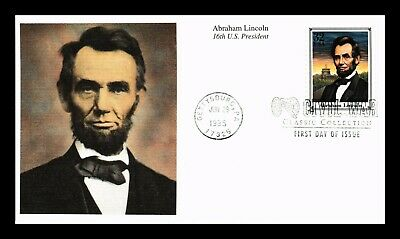 Dr Jim Stamps Us Abraham Lincoln Civil War Classic First Day Cover Mystic