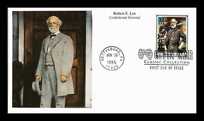 Dr Jim Stamps Us General Robert E Lee Civil War Classics Fdc Mystic Cover