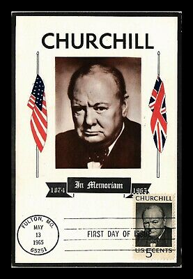 Dr Jim Stamps Us Sir Winston Churchill Colorano Fdc Maximum Card Scott 1264