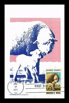 Dr Jim Stamps Us American Wool Colorano First Day Maximum Card