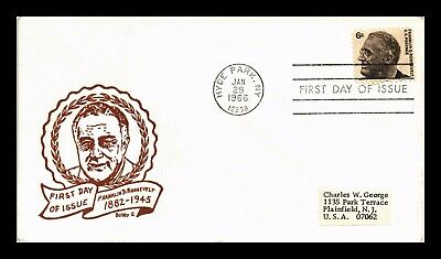 Dr Jim Stamps Us 6C Franklin D Roosevelt First Day Bobby G Cover