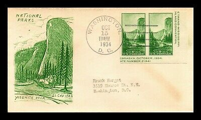 Dr Jim Stamps Us Yosemite National Parks Scott 751A On Cover