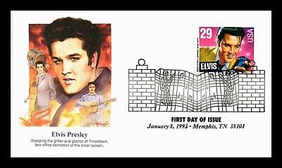 Dr Jim Stamps Us Elvis Presley Silver Screen Fleetwood First Day Cover
