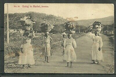 CARIBBEAN BWI JAMAICA Going home from Market pre1919 PPC local pub Duperly  - $15.54 | PicClick