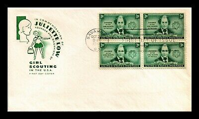 Dr Jim Stamps Us Juliette Low Girl Scouts Fdc Cover Scott 974 Farnum Block