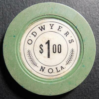 Vintage O'Dwyer's $1.00 Illegal Casino Gambling Chip New Orleans Louisiana