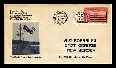 Dr Jim Stamps Us Aeronautics Conference Fdc Cover Ac Roessler Scott 649