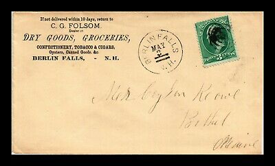 Dr Jim Stamps Us Berlin Falls New Hampshire Cover Target Cancel