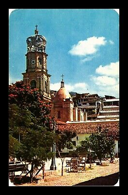 Dr Jim Stamps View To The Church Puerto Vallarta Mexico Chrome Postcard