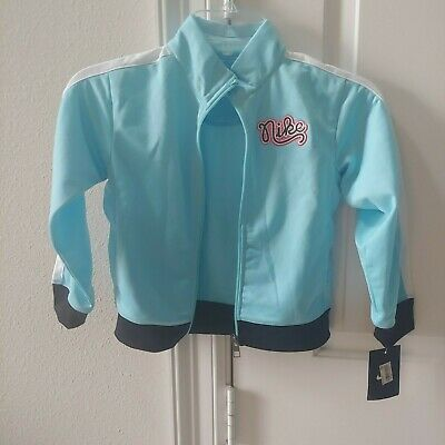 NIKE THERMA FIT JACKET Blue SIZE 6 Girls new with tags