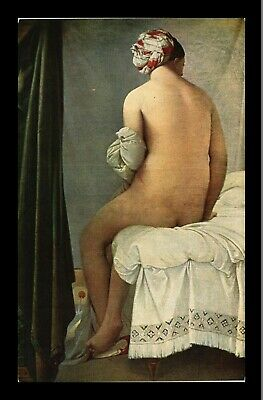 Dr Jim Stamps The Bather Painting Ingres Topical France Postcard