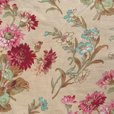 BEAUTIFUL 19th CENTURY FRENCH NAPOLEON III LINEN COTTON CORNFLOWERS 806