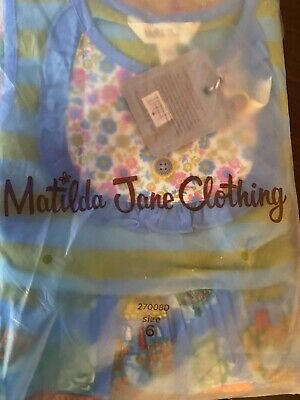 Matilda Jane HOME SWEET HOME Dress Girls Size 6 Brilliant Daydream New In Bag